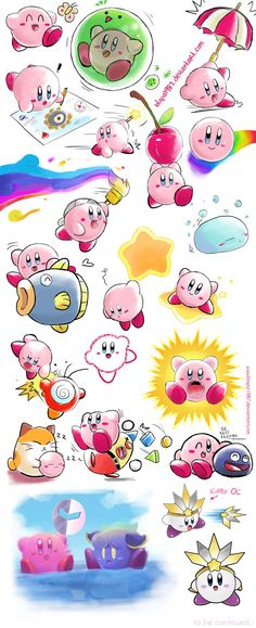 Kirby Many Sketches blopa1987.deviantart.com www.facebook.com/Blopa.page