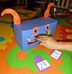 Mom to 2 Posh Lil Divas: Monster Fun: Our Very Own There Was An Old Monster Box