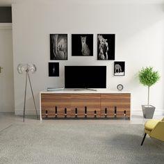 Dose Of Modern Diseps - Cappucino, White TV Unit - Cappuccino White TV Unit - Cappuccino White Tv Unit Furniture Design, Tv Unit Interior Design, Tv Unit Design, White Tv Unit, Modern Tv Cabinet, Tv Unit Decor, Living Room Decor Cozy, Small Living, Modern Living