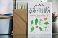 niko niko plantable postcards Just a gree(n)ting