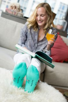 Kelly in the City - Working from Home with Apye Socks