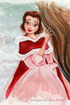 Belle beauty and the beast Disney Fan Art, Disney Artwork, Disney Princess Art, Disney Drawings, Disney Princesses, Disney Belle, Cute Disney, Disney Girls, Disney E Dreamworks