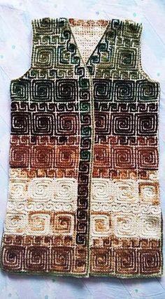 116 Tane Örgü Bayan Yelek Modelleri Hepsi Birbirinden Güzel 85 #bayanörgüyelekmodelleri #yelekörnekleri #tığ #giysi #moda #gifts #fun #handmade Crochet Jacket, Knit Vest, Crochet Cardigan, Crochet Sweaters, Wiggly Crochet, Crochet Top, Crochet Blanket Patterns, Baby Knitting Patterns, Crochet Winter