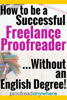 proofreaders all do these five things. The most successful freelance proofreaders (making the most money!) all tend to do these same 5 things.The most successful freelance proofreaders (making the most money!) all tend to do these same 5 things. Earn Money From Home, Earn Money Online, Way To Make Money, How To Make, Earning Money, Online Income, Investing Money, Online Earning, Entrepreneur