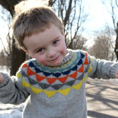 Garland Sweater with Stripy Pants