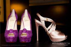Purple Christain Louboutins #Sensationnel, #MyDreamWedding