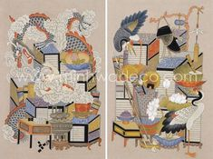 Chinoiserie, Bonsai, Quilts, Blanket, Rugs, Painting, Illustrations, Home Decor, World