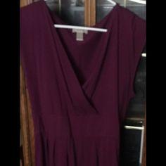 New burgundy Loft Dress. New burgundy Loft Dress. Size large. No tags but never worn. LOFT Dresses Midi