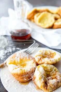 German Pancake minis or puff pancake muffins are easy to make, require minimal ingredients you likely already have on hand, and are a delicious breakfast. You are going to love these baked German Pancake Minis. Mini German Pancakes, German Breakfast, German Pancakes Recipe, Pancakes Easy, Pancakes And Waffles, Pancake Muffins, Puff Pancake, Dutch Baby Pancake, Brunch Recipes