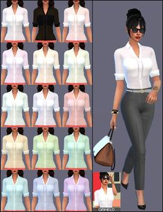 Just a simple woman blouse at Gisheld • Sims 4 Updates