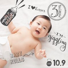 Three months and getting so big! Loving this monthly milestone pic using custom text and artwork across so many collections! Share your baby's monthly milestone photos with us an tag #LittleNugget to be featured. Download Little Nugget today to start capturing your baby's moments. [ link in profile] Baby Pictures, Baby Photos, Baby Photo App, Baby Monthly Milestones, Baby Album, Family Memories, Baby Month By Month, Little Babies, Announcement