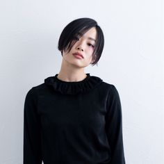 Asian Bangs, Asian Short Hair, Short Hair Cuts, Short Hair Styles, Undercut Bob, Undercut Women, Short Hairstyles For Women, Cute Hairstyles, Hair Inspo