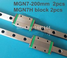 32.00$  Buy here - http://aligcf.shopchina.info/go.php?t=32312770485 - Kossel Pro Miniature  7mm linear slide :2pcs MGN7 - 200mm rail+2pcs MGN7H carriage for X Y Z axies 3d printer parts 32.00$ #buyonlinewebsite