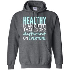 Healthy is an Outfit Unisex Hoodie