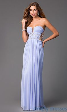 Long Open Back Strapless Gown by Terani $197