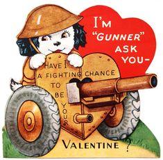 WWII 1945 Vintage Valentine Card @ Vintage Fangirl