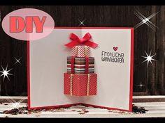 Kids' Christmas Craft: 3D Greetings Card - YouTube