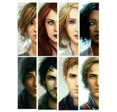 The crew ~ The Lunar Chronicles ~ Cinder & Kai ~ Scarlet & Wolf ~ Cress & Thorne ~ Winter & Jacin ~