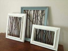 25 Best DIY Picture Frame Ideas [Beautiful, Unique, and Cool] Unique and cool picture frame designs. Here are many inspirations of DIY picture frame designs. Some beautiful carvings. Diy Wand, Cool Picture Frames, Crafts With Picture Frames, Picture Frame Decorating Ideas, Rustic Picture Frames, Decorating Frames, Picture Frame Projects, Photo Frame Crafts, Painted Picture Frames