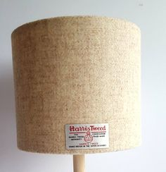 Harris Tweed Lampshade - Cream / Oatmeal / Beige - or sizes. Drum or Oval shape to suit table lamp or ceiling lighting Ceiling Pendant, Ceiling Lights, Handmade Lampshades, Gin Bottles, Harris Tweed, Light Fittings, Color Themes, Cushion Covers, Floor Lamp