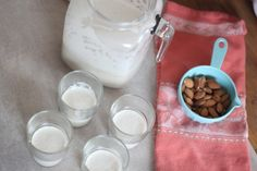 almonds: make your own almond milk | The Sleepy Time Gal
