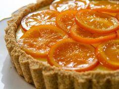 """Vanilla Orange Tart (Picture This!) - Trisha Yearwood, """"Trisha's Southern Kitchen"""" on the Food Network."""