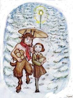 Mr. Tumnus and Lucy by Isaia.deviantart.com on @deviantART
