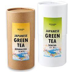 紙管 緑茶パッケージ【ラベルテンプレート】