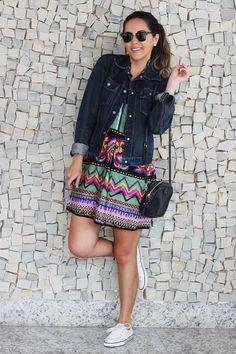 Look da Camis | Camila Gomes | Blog Sim, Senhorita |  Jaqueta Maria Bonita Extra, Vestido Farm, Bolsa Adô, Óculos Ray Ban, Tênis All Star
