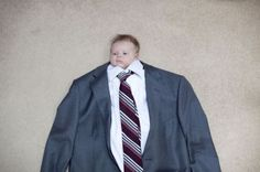 """lol! This would be cute to do each year and watch him """"grow into"""" the suit."""