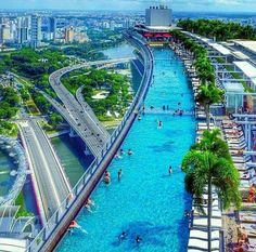 ❥ This is a POOL on the 57th floor of Marina Bay Sands Casino - Singapore ★❤★