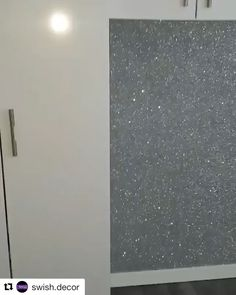 home accents luxury Luxury silver iridescent glitter wallcovering. Message us for a quote. Glitter Bedroom, Glitter Paint For Walls, Glitter Paint In Kitchen, Rustoleum Glitter Paint Wall, Sparkle Wall Paint, Silver Paint Walls, Bling Bedroom, Silver Bedroom Decor, Glitter Wallpaper Bedroom