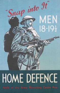 British Home Defence recruiting poster for men ages 18-19 1/2 (Imperial War Museum)