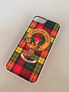 Cover for iPhone 5 5s with Buchanan clan crest and tartan
