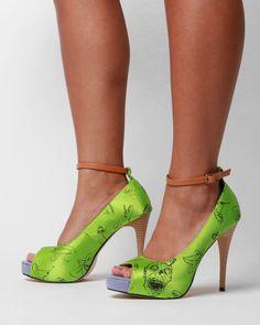 Iron Fist Zombietini Platform Shoes - Green, $40.00