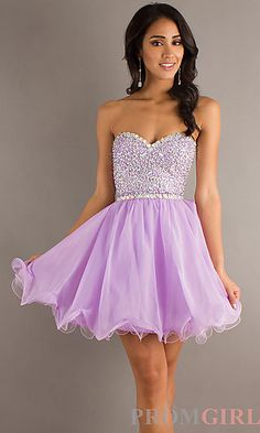Prom girl short dress