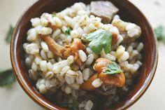 #wołowina #pęczak #kurki #grzyby #obiad