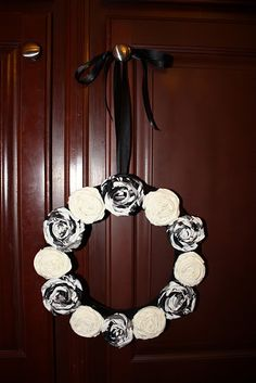 rosette wreath.....maybe doing it in reds and pinks for Valentines.