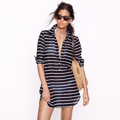 Stripe tunic - how easy would this slide into your beach closet!