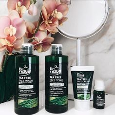 Farmasi Tea Tree Skincare Set, Tea Tree is one of the very best, natural oils to use for treatment of acne as well as negative environmental impacts. Tea Tree Face Wash, Tea Tree Oil For Acne, Melaleuca, Leiden, Oils For Dandruff, Farmasi Cosmetics, Piercings, Face Scrub Homemade, Eyebrows