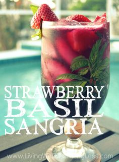 Need a refreshing new drink option for those hot summer days? This gorgeous strawberry basil sangria might just be the world's most perfect cocktail--easy, delicious, and oh-so-pretty! PERXFOOD.COM