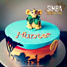 Lion King {Simba} - Made this cake yesterday for Hunter's 1st birthday!  First time making Simba and designing a cake with a Lion King theme.  TFL and comments welcome x