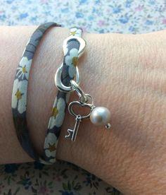 Mitsi Liberty ribbon double wrap bracelet