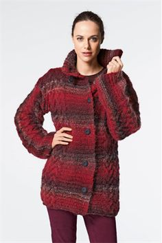 Ladies' Coat in Bergere de France Cyclone - Discover more Patterns by Bergere de France at LoveCrafts. From knitting & crochet yarn and patterns to embroidery & cross stitch supplies! Mode Crochet, Knit Crochet, Coat Patterns, Knitting Patterns, Knitting Projects, Ravelry, Cardigan Pattern, Light Jacket, Knit Jacket