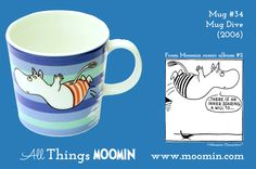 Moomin mug Dive by Arabia - Moomin Moomin Mugs, Diving, Tableware, Trays, Cups, Anna, History, Summer, Collection