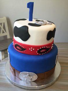 Western cake  Birthday boy bandana cake