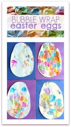 Bubble wrap Easter egg art project for kids!