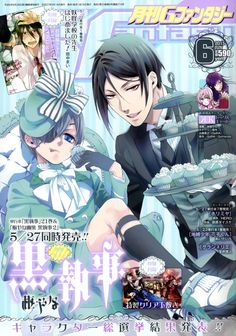 Kuroshitsuji Sebastian Michaelis and Ciel Phantomhive Manga Covers, Comic Covers, Manga Art, Anime Art, Poster Anime, Magazin Covers, Japanese Poster Design, Black Butler Anime, Cute Poster