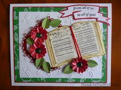 Open Book Christmas Card