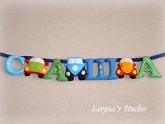 "Larysa's Studio: ♥♥♥ Именная гирлянда ""Саша"" и машинки"